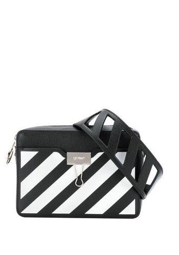 OFF-WHITE diag camera bag black white