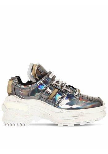 MAISON MARGIELA platform sneakers gunmetal