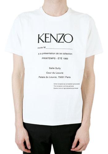 KENZO 'invitation' textured t-shirt white