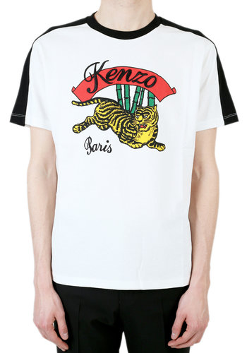 KENZO bamboo tiger t-shirt white