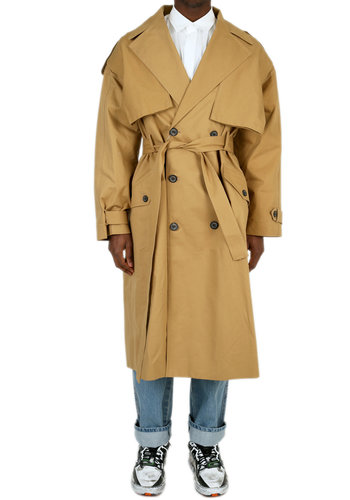 ADER ERROR high fusion trench coat beige