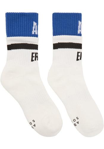 ADER ERROR form logo socks white