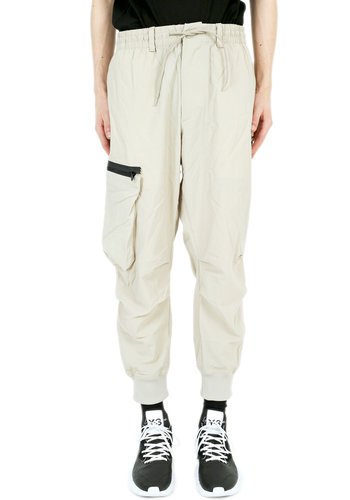 Y-3 nylon twill cargo pants champagne