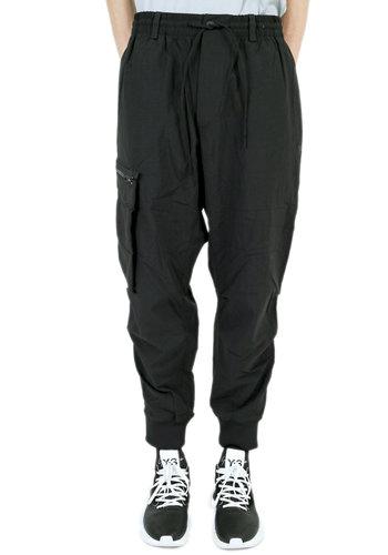 Y-3 nylon twill cargo pants black