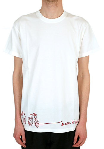 MAISON KITSUNE scooter t-shirt ecru