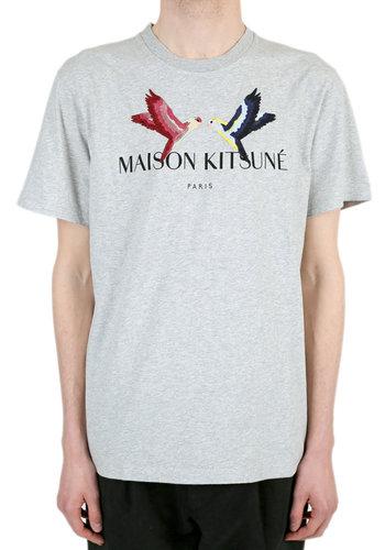 MAISON KITSUNE lovebird t-shirt