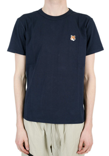 MAISON KITSUNE fox head patch t-shirt navy