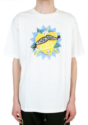 MAISON KITSUNE limone t-shirt ecru
