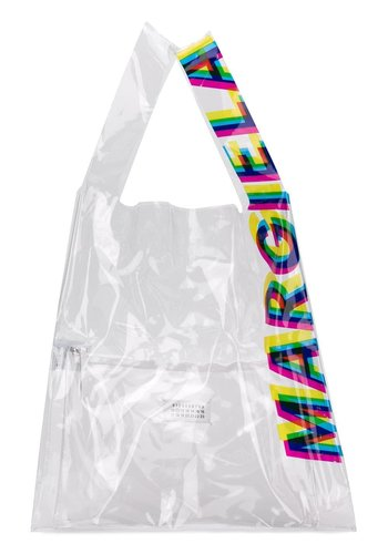 MAISON MARGIELA pvc shopper tote text