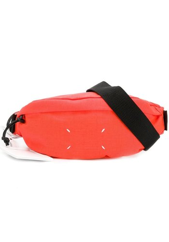 MAISON MARGIELA nylon bumbag orange