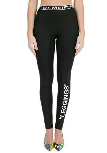 OFF-WHITE leggings black white