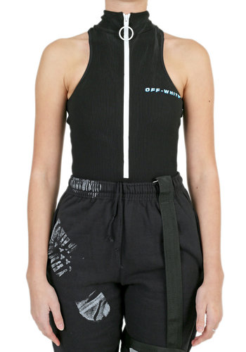 OFF-WHITE cannette active zip bodyswim black blue