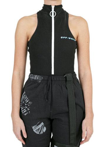 OFF-WHITE cannette active zip bodyswim black blue