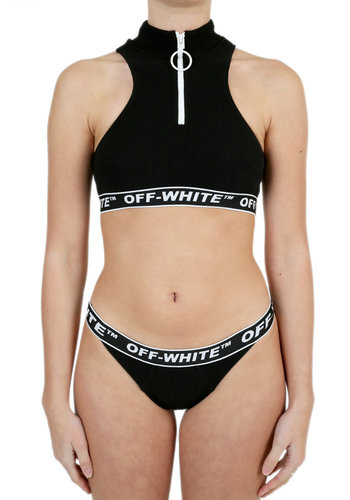 OFF-WHITE cannette active zip bikini black no color