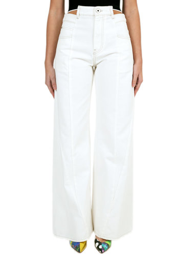 MAISON MARGIELA wide-leg 'décortiqué ' asymmetric jeans