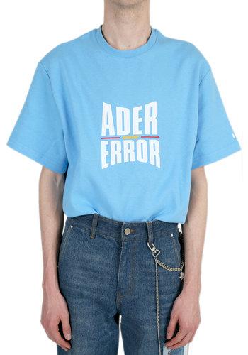 ADER ERROR form logo t-shirt sky blue
