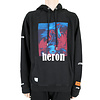 HERON PRESTON RED BLUE BIRDS HOODIE