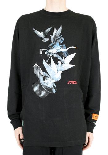 HERON PRESTON l/s reg doves coral black