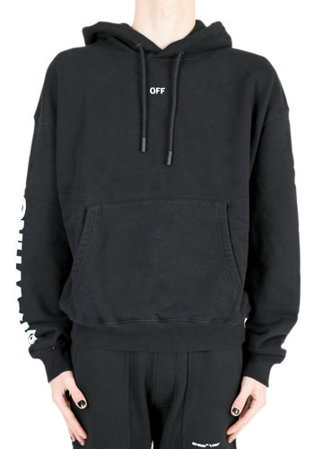 OFF-WHITE diag skull hoodie black multicolor
