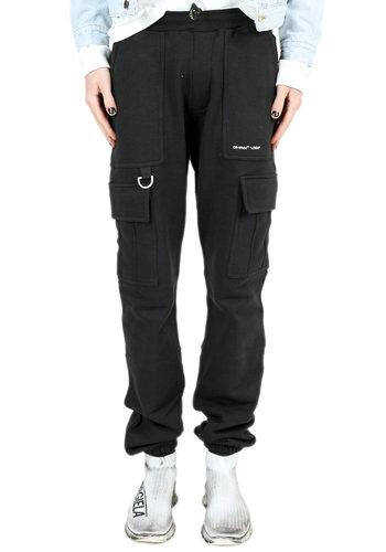 OFF-WHITE logo cargo sweatpants black