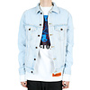 OFF-WHITE SLIM DENIM JACKET W FLEECE BLEACH