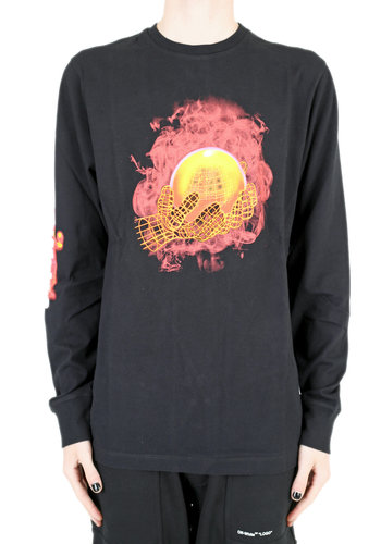 OFF-WHITE hand and planet l/s tee black