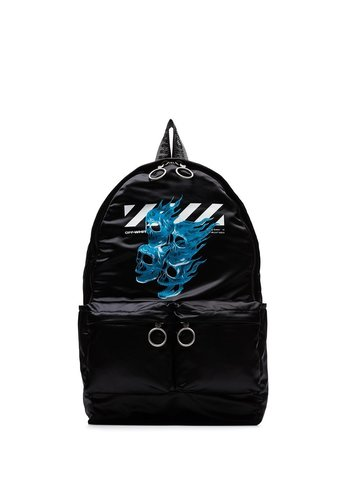 OFF-WHITE skull backpack black