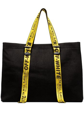 OFF-WHITE canvas tote black