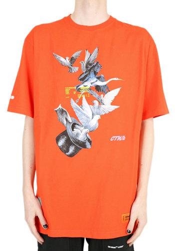 HERON PRESTON s/s reg doves coral red