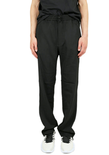 Y-3 wool sat. straight pant black