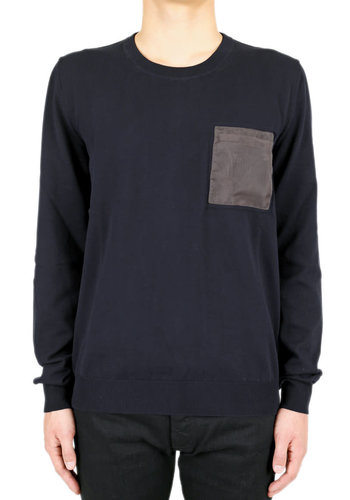 MAISON MARGIELA pocket patch knitwear pull navy