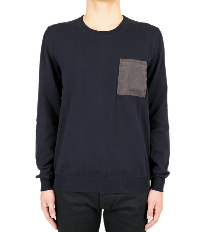 POCKET PATCH KNITWEAR PULL NAVY
