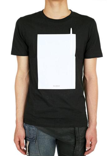 MAISON MARGIELA graphic pen t-shirt black
