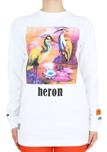 HERON PRESTON prntd aironi crewneck tee l/s white multicolor