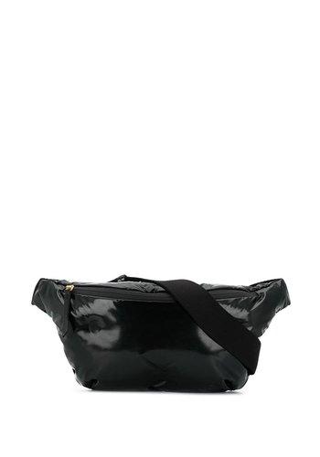 MAISON MARGIELA glossy black bumbag