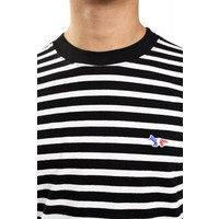 MARIN T-SHIRT TRICOLOR FOX PATCH BLACK/WHITE