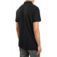 MAISON KITSUNE POLO TRICOLOR FOX PATCH BLACK