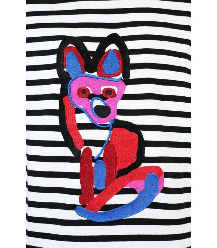 MARIN T-SHIRT ACIDE FOX EMBROIDERY