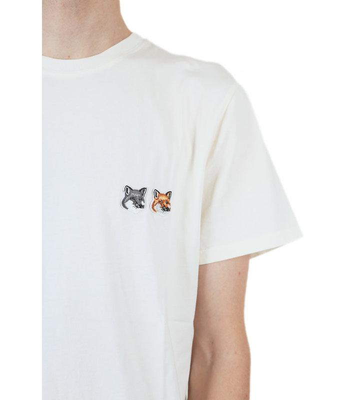T-SHIRT DOUBLE FOX HEAD PATCH LATTE
