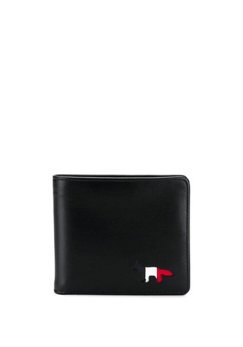 MAISON KITSUNE tricolor men wallet black