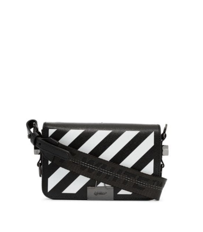 DIAG MINI FLAP BAG BLACK WHITE