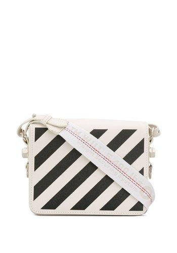 OFF-WHITE diag flap bag white black