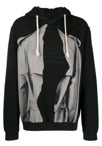 MAISON MARGIELA ripped hoodie black/grey