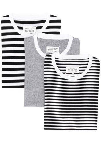 MAISON MARGIELA 3-pack striped t-shirts