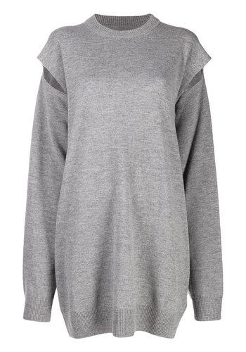 MAISON MARGIELA cut-out knit dress grey