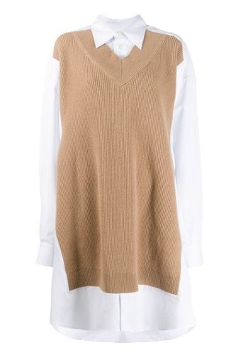 MAISON MARGIELA sweater shirt white/blue striped