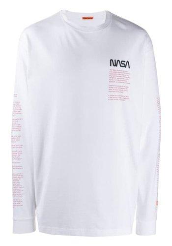 HERON PRESTON nasa over tshirt ls facts white multi