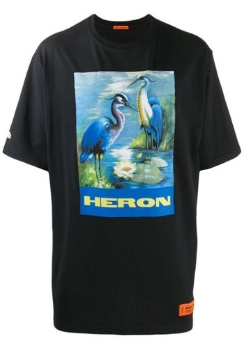 HERON PRESTON over tshirt ss permanent off black multi