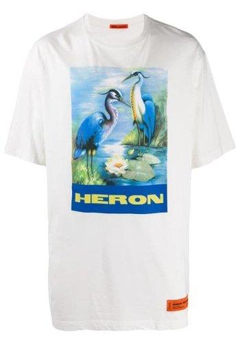 HERON PRESTON over tshirt ss permanent off white multi