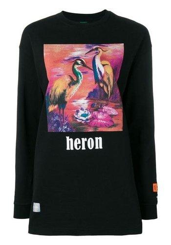 HERON PRESTON prntd aironi crewneck tee l/s black multicolor